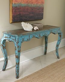 Distressed Turquoise Furniture | ... For The Null Distressed Console In  Consoles This Distressed