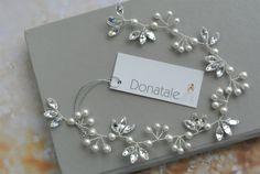 Perlas de cristal de pelo accesorios Wedding del pelo tocado