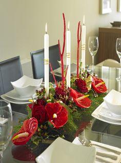 décoration florale de table    Compositions pour noël – art 2