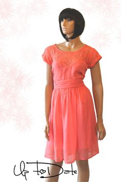 Coral Bridesmaid / Wedding Party / Cocktail dress by UpToDateFashion, $54.99