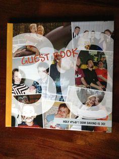 30th Birthday Guestbook made on Shutterfly byBecky Davino