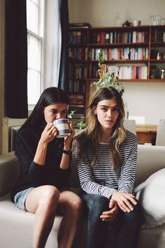 joannahalpin: Joanna & Sarah Halpin by Alexander McLuckie. Silky Dress, Dress Up, Joanna Halpin, Sexy Coffee, Safari Shirt, Blue Raincoat, Hair Color And Cut, Parisian Chic, Summer Looks