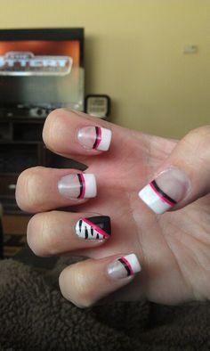 My zebra nails :)