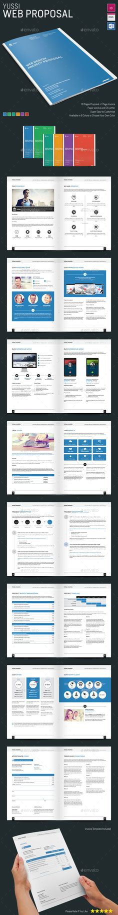 Web Proposal Template | #proposaltemplate #proposal | Download: http://graphicriver.net/item/yussi-web-proposal/9093435?ref=ksioks