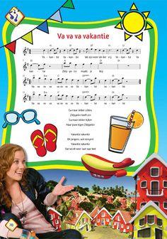 Thema 'Op vakantie': vakantielied Camping, Too Cool For School, Summer Kids, Reading Comprehension, In Kindergarten, Singing, Preschool, Classroom, Songs