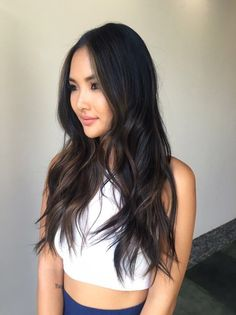 Subtle Ombre on Asian hair - Yelp Ombre Hair asian ombre hair Asian Ombre Hair, Asian Hair Highlights, Balayage Asian Hair, Long Asian Hair, Hair Color For Black Hair, Brown Hair Colors, Dark Hair, Santa Monica, Hair Looks