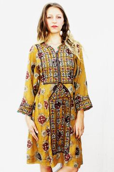 Mustard Yellow Afghani Dress by TavinShop on Etsy, $215.00......Love! ♥