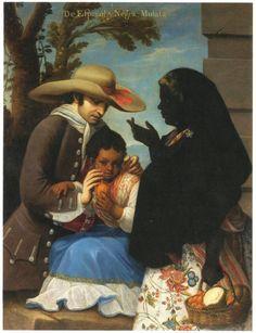 De español y negra – Mulata. Pintura de castas (Miguel Cabrera) – IMAGENES | Historia de América Latina Colonial