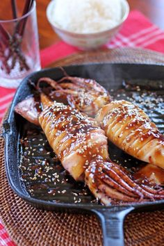 Sizzling Teriyaki Squid Sizzling Teriyaki Squid Sizzling Teriyaki Squid Is A Simple Dish Made Out Of Grilled Squid Served On A Rich Teriyaki Sauce It Can Be Enjoyed As A Mains Or Even Matched With An Ice Cold Beer As A Side Dish Sizzling Teriyaki Squid Squid Recipes, Fish Recipes, Seafood Recipes, Asian Recipes, Cooking Recipes, Octopus Recipes, Squid Dishes, Fish Dishes, Seafood Dishes