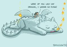 Lazy Cat Dragon by sebreg.deviantart.com on @DeviantArt