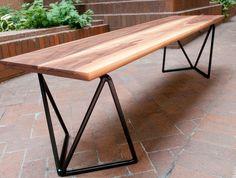 $1100.00 #bench #wood #metal #metrobench #etsy #artavironi