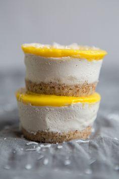Mini Vegan Mango Cheesecakes