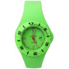Toy Watch Small jelly neon green watch