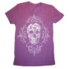 Ornate Skull Tee Womens, $22, now featured on Fab.