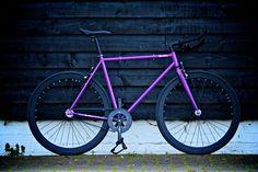 Quella Bicycle — Trinity (Purple Frame/Black Rim/Black Spoke)