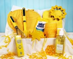 Scatter Sunshine, Kitchen gift basket   CUTE idea!!