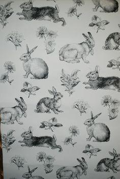 Wallpaper; adorable. I need a bunny room