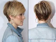 short hair women back - Google Search
