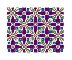 Purple Stars - Counted Cross-stitch/Knitting/Tapestry Crochet Charted Design by MarinaDesignBoutique on Etsy #tapestrycrochet #crossstitch #knitting #chart #ornament #decoration #pattern #graph