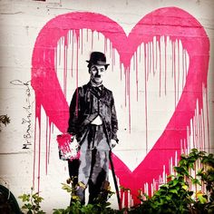 "worldwildwalls: "" #MrBrainwash #streetart in #carmel #100joursailleurs #california #roadtrip #usa (à Carmel, California) """