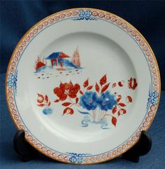 RARE Spode Pattern 488 18cm Plate C.1797 with Chinese Pattern