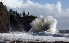 Storm watching on the Oregon Coast . . .