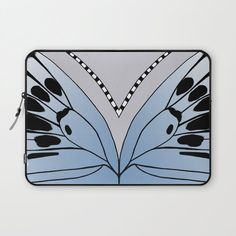 Butterfly Wing - Large Blue Laptop Sleeve by laec Butterfly Wings, Laptop Sleeves, Artwork, Pattern, Blue, Collection, Notebook Covers, Work Of Art, Auguste Rodin Artwork