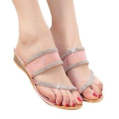 Womail Bohemia Floral Flip Flops Flip-flops Loafers Slippers Beach Sandals Shoes ** Visit the image link more details.