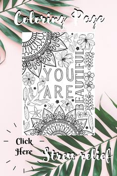 Love Coloring Pages, Printable Coloring Pages, Adult Coloring Pages, Coloring Sheets, Printable Planner, Planner Stickers, Printables, Beautiful Notes, You Are Beautiful