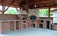 Kerti konyha patio falazókőből- kemence, grillező, bográcsozó, sparhelt és pultok
