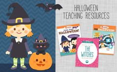 Teaching in October - Halloween Educational Materials! Novel studies, activity packets, craftivities, glyphs, games and more!