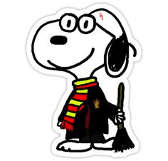Snoopy discovers Harry Potter.