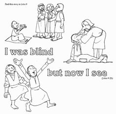Jesus Blind Man Coloring Page