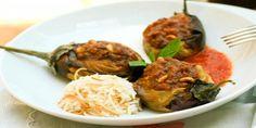 Lebanese Stuffed Eggplant with Lamb Mice, Tomato and Pine Nuts / Sheikh El Mahshi (grain-free, dairy-free, breadcrumb-free, legume-free, sugar-free, pork-free, use coconut oil, serve with low carb veggies)