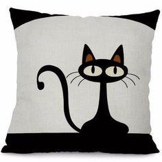Decorative Cat Throw Pillow Covers