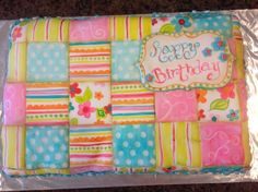 Quilt birthday cake inspired by Riley Blake fabric
