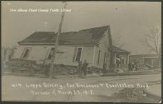 Destruction of Lopps Grocery in New Albany, Ind. by 1917 tornado