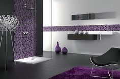 Bathroom White And Purple Decor Modern Models
