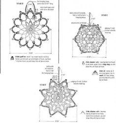 Схемы вязания снежинок