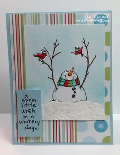 card with stampendous snowman banners - Google Search