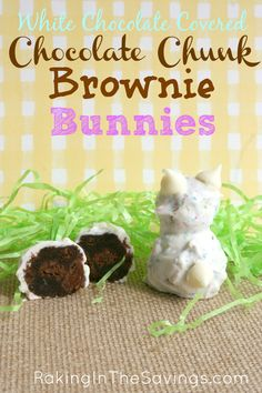 These brownie bunny bites looked so cute but they are $10 for 12 of them (not a very frugal purchase) and aren't gluten-free, so I had to create my own! Luckily, it's much easier than it looks!