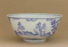 Bowl, 1450-1500, Ming dynasty, probably Chenghua reign. Glazed porcelain, cobalt under glaze. H: 9.5 W: 20.4 cm, Jingdezhen, China. Purchase F1952.4. Freer/Sackler � 2014 Smithsonian Institution