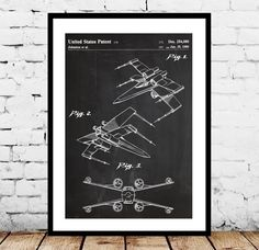 Star wars X Wing Star Wars Poster X Wing Star by STANLEYprintHOUSE