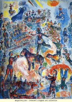 Marc Chagall. Great Circus. Olga's Gallery.