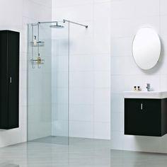 Roman Haven 8mm Corner Wetroom Panel Large Image