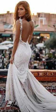 36 Totally Unique Fashion Forward Wedding Dresses � fashion forward wedding dresses sheath backless lace for beach tali photography #weddingforward #wedding #bride