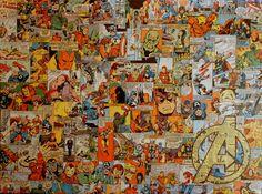 Collage con viñetas de The Avengers Vol 1 por MikeAlcantara.