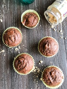 Skinny Chocolate Muffins are quick and easy on the go breakfast idea; made with greek yogurt. The flavors you can add to these muffins are endless! Weight Watchers Muffins, Weight Watchers Desserts, Ww Desserts, Healthy Desserts, Healthy Recipes, Greek Yogurt Muffins, Greek Yogurt Recipes, Ww Recipes, Muffin Recipes