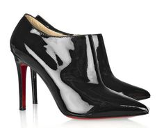 Christian Louboutin Dahlia 100 Patent Leather Ankle Boots
