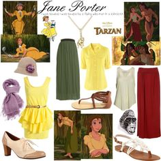 """Jane Porter"" for halloween Cute Disney Outfits, Disney Dress Up, Disney Themed Outfits, Cute Outfits, Movie Outfits, Disney Clothes, Emo Outfits, Jane Porter, Nerd Fashion"
